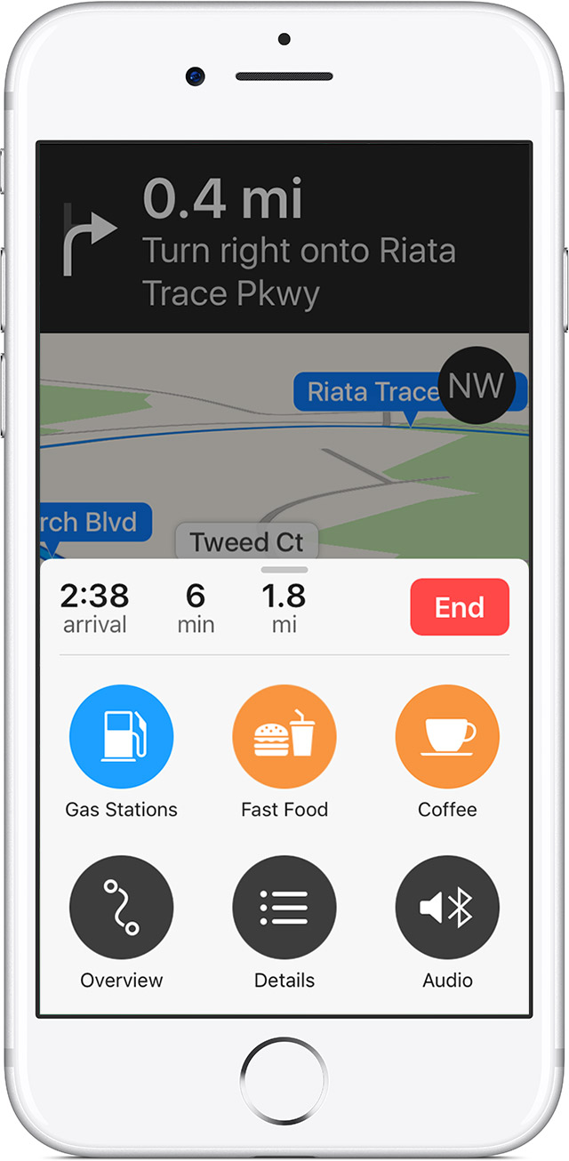 how to use apple maps navigation