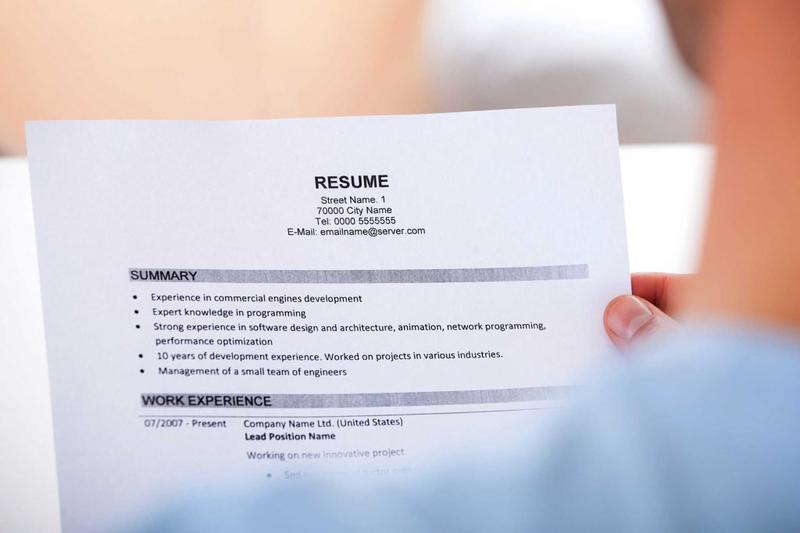 Uber driving on resume