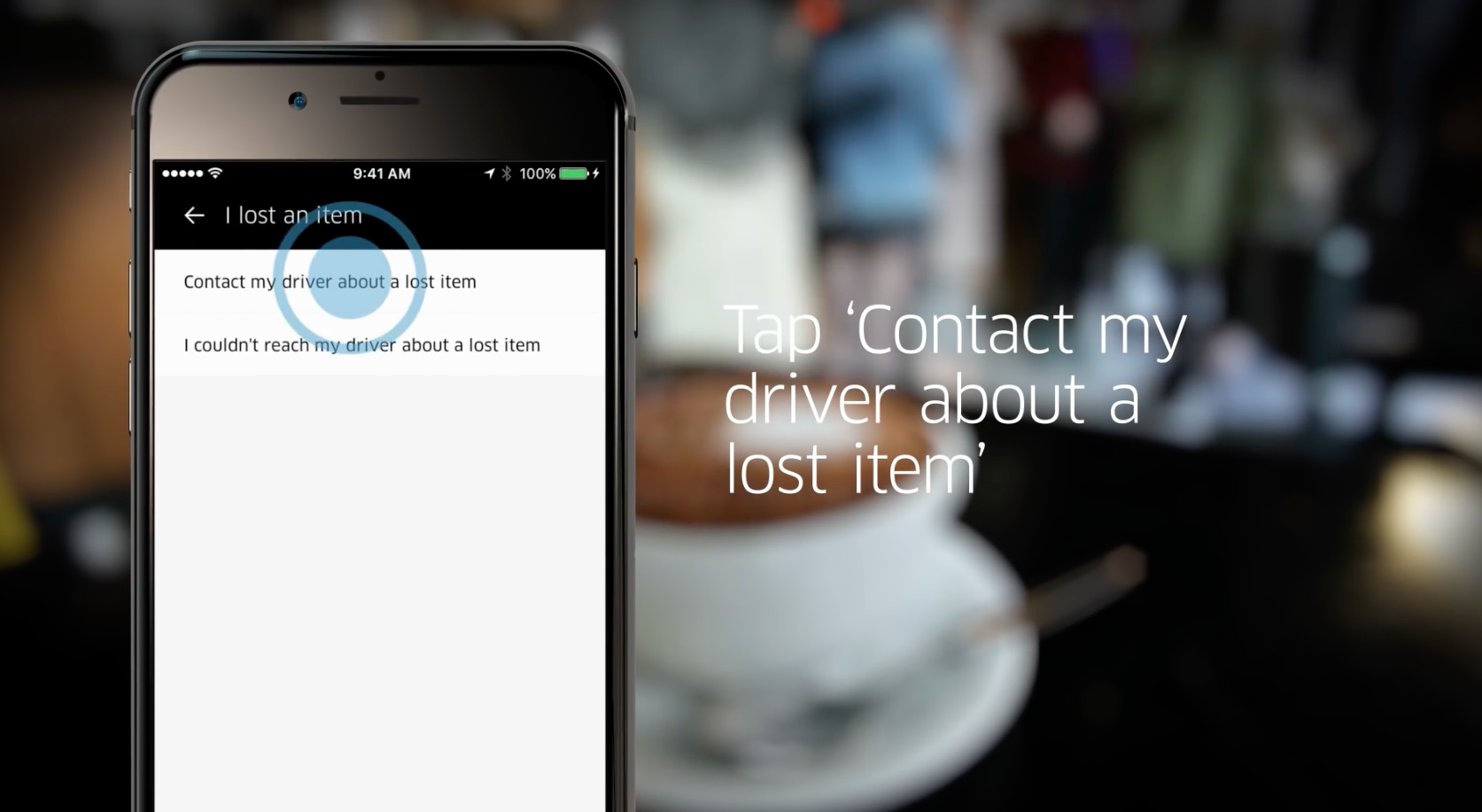 How to get lost item in uber