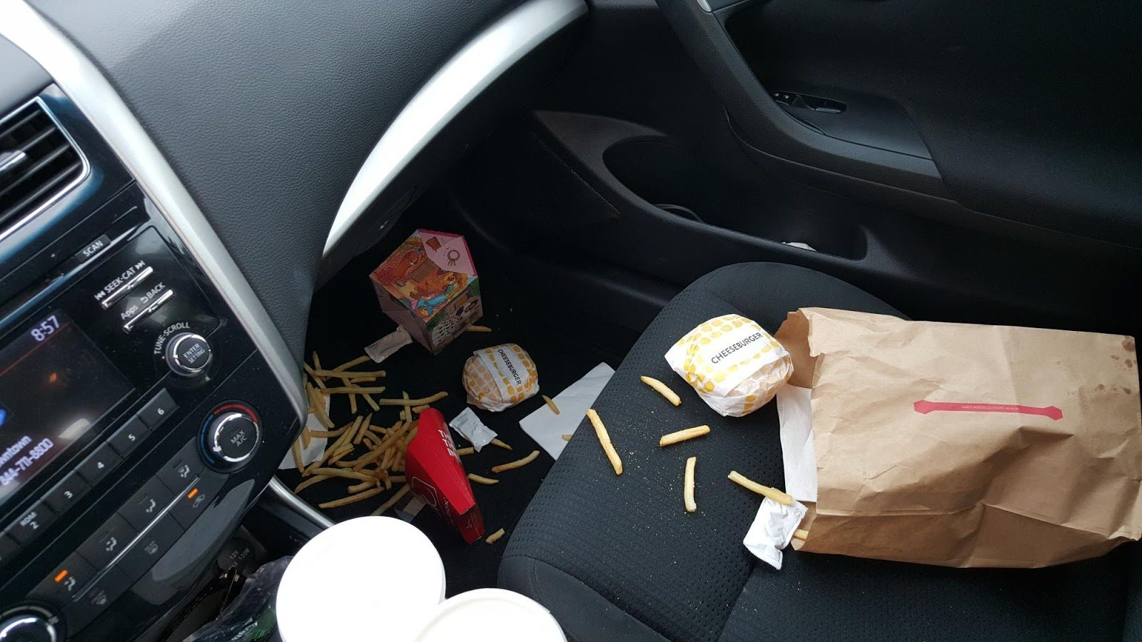 Get rid of food odors from your car