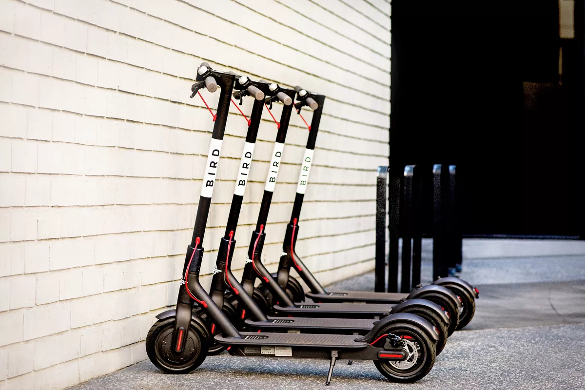 Charging Bird Scooters