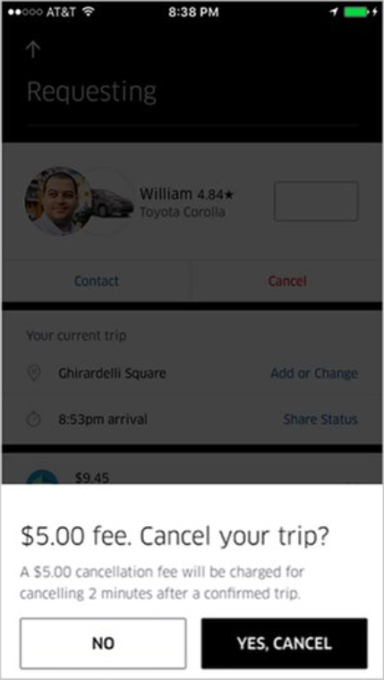 How To Cancel Uber >> Cancellation Fees After 2 Minutes I Thought We Had 5